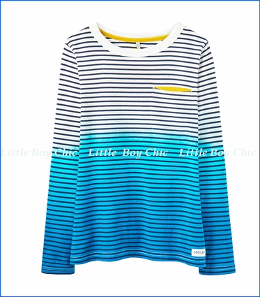 Joules, LS Striped Navy Stripe T-Shirt