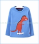 Joules, Zany Novelty Sleeve Dino Tee in White