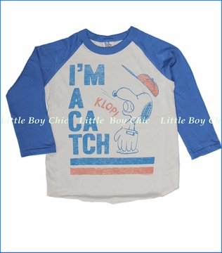 Junk Food, I'm a Catch Tee in Foggy Grey