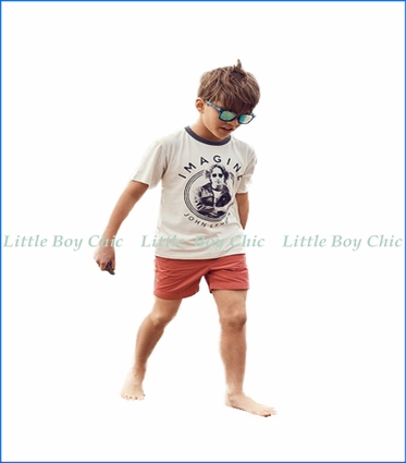 Junk Food, John Lennon Ringer T-Shirt in White