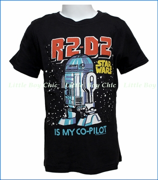 Junk Food, R2-D2 Is My Co-Pilot T-Shirt in Black