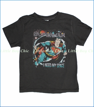 Junk Food, Superman Space Tee in Black Wash (c)