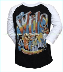 Junk Food, The Who 1968 Tour Raglan Tee in Black
