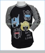 Junk Food, Watch & Learn Autobots Raglan in Black