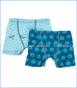 Kickee Pants, Boxer Briefs Set in Glacier Honeycomb & Twilight Fishbowl