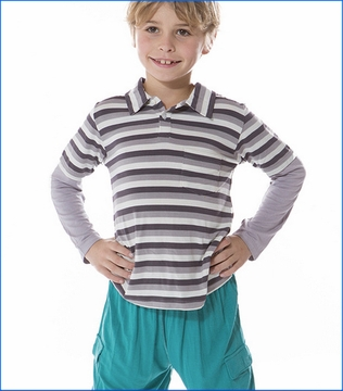 Kickee Pants, Double Layer Rain Stripe Polo