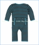 Kickee Pants, Fitted Coverall in Boy Tundra Stripe