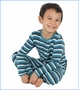 Kickee Pants, Forest Stripe Print Fitted Coverall