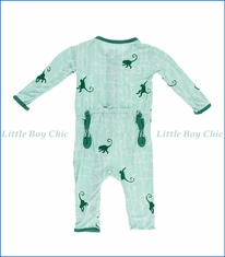 Kickee Pants, Glass Forest Monkey Coverall