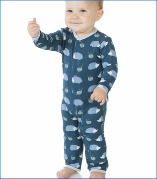 Kickee Pants, Hedgehog Coverall in Peacock