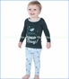 Kickee Pants, Long Sleeve Pajama Set in Pond Snow