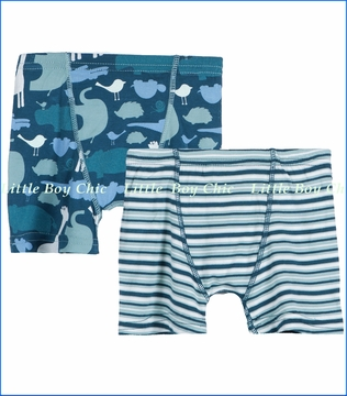 Kickee Pants, Multi Animal and Stripes Boxer Briefs Set - 2 Pack