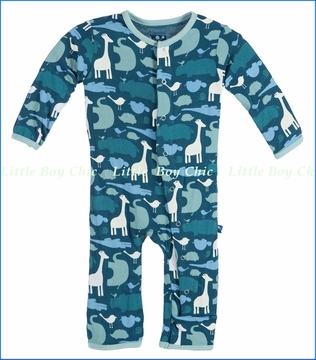 Kickee Pants, Multi Animal Coverall in Peacock