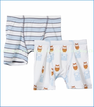 Kickee Pants, Musical Stripes and Radio Owl Boxer Briefs Set - 2 Pack