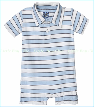 Kickee Pants, Musical Stripes Polo Romper