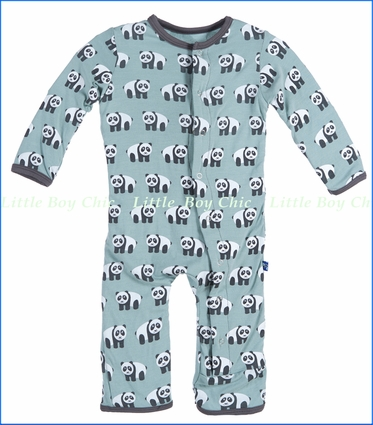 Kickee Pants, Panda Coverall in Jade