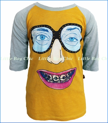 La Miniatura, Braces Raglan Tee in Gold (c)