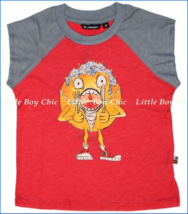La Miniatura, Donut Muscle Tee in Red (c)