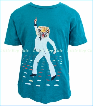 La Miniatura, Grease Tiger Tee in Teal (c)
