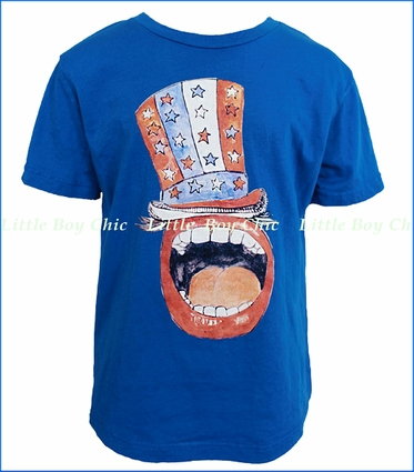 La Miniatura, Happy Hat Tee in Navy (c)