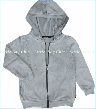 La Miniatura, Lightning Wash Zip Hoodie in Concrete (c)