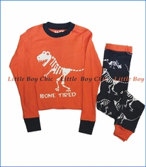 Lazy One, Bone Tired Pajama Set in Orange