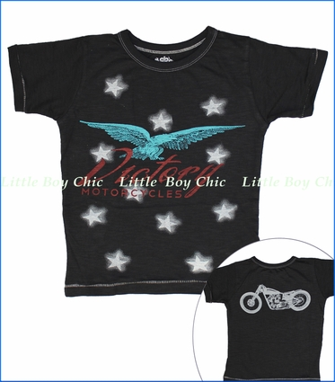 Little Traveler, Victory Motorcycles Slub Tee in Vintage Black
