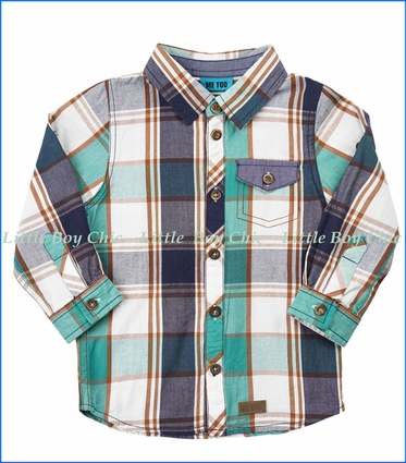 Me Too, L/S Organic Plaid Shirt