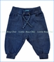 Me Too, Organic Quilted Knit Sweatpants in Navy Night