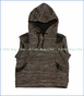 Miilovemu, Moroccan Waffle Knit Hood Vest in Multicoloured