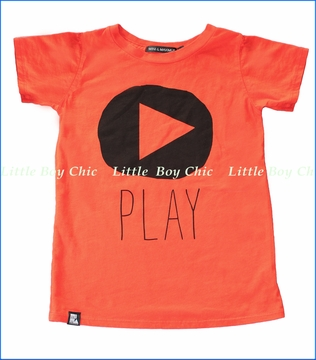 Mini and Maximus, Play Organic Tee in Orange