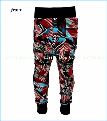 Mini Classy, Tribal Print Harem Pant in Multicolored
