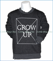 Mini & Maximus, Don't Grow Up Sweatshirt in Black