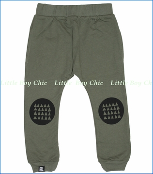 Mini & Maximus, Tricircle Drop Crotch Pants in Olive Green