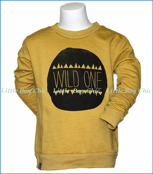 Mini & Maximus, Wild One Sweatshirt in Gold