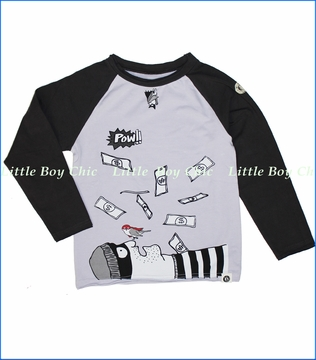Mini Shatsu, Bat and Robin Raglan Tee