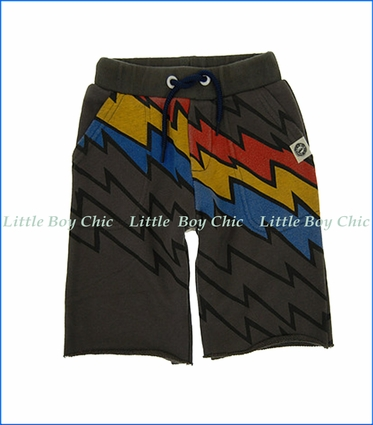 Mini Shatsu, Lightning Speed Stripe Shorts in Brown