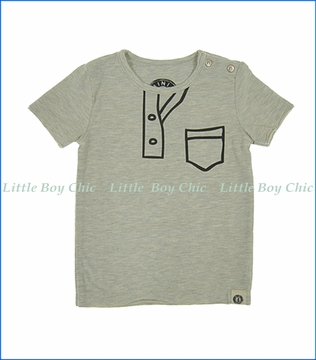 Mini Shatsu, Marker Henley T-Shirt in Grey