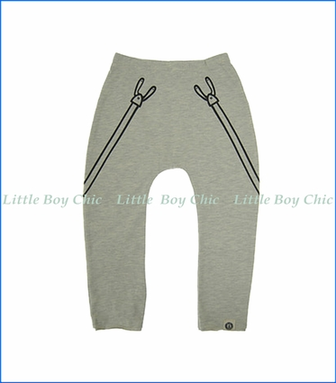 Mini Shatsu, Marker Suspender Pants in Grey