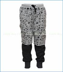 Mini Shatsu, Paint Splatter 2fer Pants in Grey