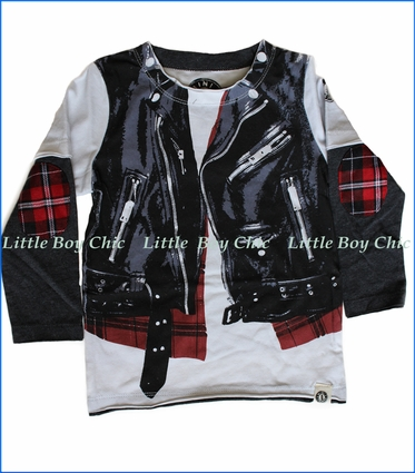 Mini Shatsu, Plaid Leather Biker Vest 2fer Romper in White