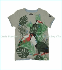 Mini Shatsu, Tropical Toucan T-Shirt in Grey