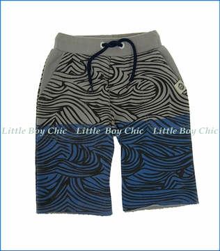 Mini Shatsu, Wave Shorts in Blue
