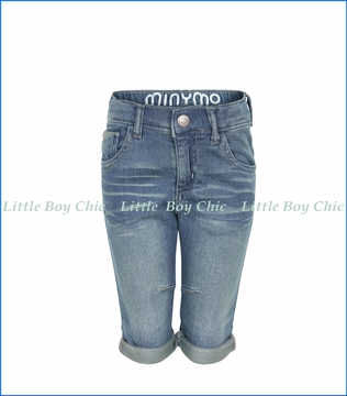 Miny Mo, Kirk Three-Quarter Jean Pants in Blue