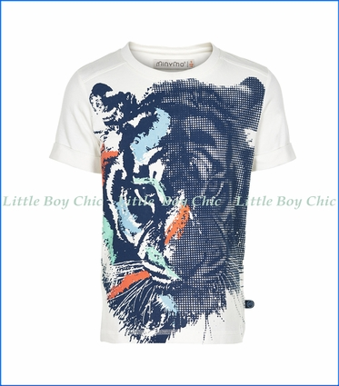 Miny Mo, Kirk Tiger Print T-Shirt in White