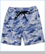 Munster, Camowave Twill Shorts in Blue (c)