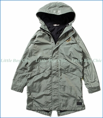 Munster, Drainer Hooded Jacket in Light Olive