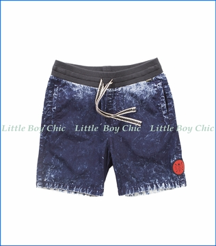 Munster, Dye Lot Woven Shorts in Indigo