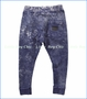 Munster, Faded House Down Pants in Blue