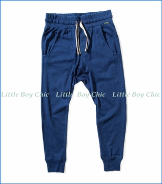 Munster, Feet Up Jersey Pants in Indigo